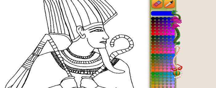 Colorea dibujos y hacer puzzles del antiguo Egipto - AEDE Web