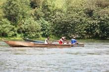 Barco de pesca en el lago Victoria (Uganda)