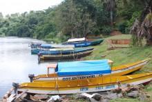 Barcas que ofrecen pequeñas navegaciones por el lago
