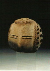 Cabeza estatua femenina Arcilla cocida 6,6 cm Cementerio N tumba 133 Aniba inv nº 4396 1600 a.C
