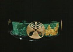 Diadema. Cobre y lámina de oro diámetro 19 cm Mastaba D 208 Guiza inv nº 2500 din V-VI