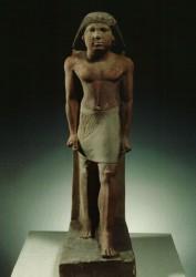 Estatua de Ni-kau-chnum Caliza 64,3 cm Serbad Mastaba Ni-Kau-Chnum Guiza inv nº 3154 din V-VI