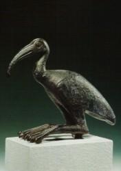 Estatua de un Ibis Bronce 9 cm procedencia desconocida din XXV a XXX