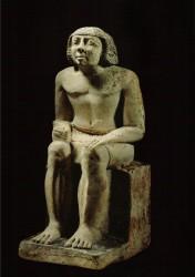 Estatua sedente de Djascha. Caliza 56 cm Serbad mastaba D 39-40 Guiza inv nº 2561 din V