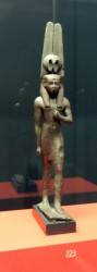 Estatuilla votiva de Nefertum_Montu.din 26_Bronce