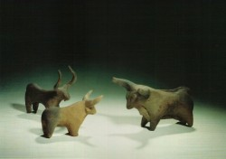Estatuillas de ganado arcilla cocida de 12 a 8 cm inv nº 4387 4380 2757 Aniba cementerio N 1600 a.C