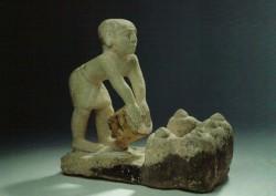 Figura almacenador de grano Caliza 28,5 cm Serdab Mastaba 39-40 Guiza inv nº 2566 din V