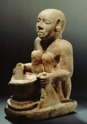 Figura cocinero Caliza 28,8 cm Serdab Mastaba D 39-40 Guiza inv nº 2562 din V