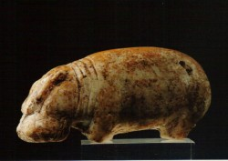 Figura de un Hipopótamo Caliza 4,2 cm Procedencia desconocida inv nº 6018 din XI-XII