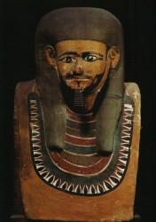 Máscara de momia de Herischef-Hotep Lino y estuco 60 cm Tumbs de Herischef-Hotep Abusir inv nº 5 din IX-X