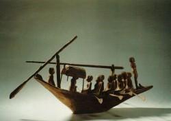 Maqueta de barca Madera 64 cm Tumba de Herischef-Hotep Abusir inv nº 38 din IX-X