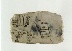 Ostracón con listas de contar Caliza 13 cm inv nº 1657 Tebas din XX