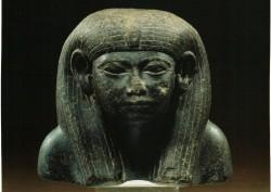 Parte superior de estatua de una reina Diorita 10,1 cm procedencia desconocida inv nº 6017 din XII