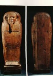 Sarcófago de Hed-bast-iru Madera cedro 212 cm inv nº 494 procedencia desconocida Época Tardía
