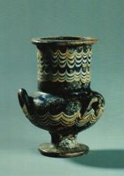 Tarro de ungüento con tres asas Vidrio Abusir tumba 3 inv nº2367 din XVIII