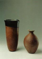 Vasijas Arcilla cocida Naqada inv nº 155 4000 a.C y 102 3300 a.C