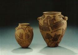 Vasijas Arcilla cocida inv nº 3010 y 5078 3200 a.C procedencia desconocida
