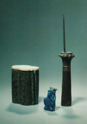Vasijas distintos materiales y formas 7,3 4,4 11,4 cm Aniba tumbas 91 y 10 inv nº 6038 5290 6047 din XVIII