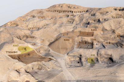 Página web Life Histories of Theban Tombs de la Universidad de Basilea
