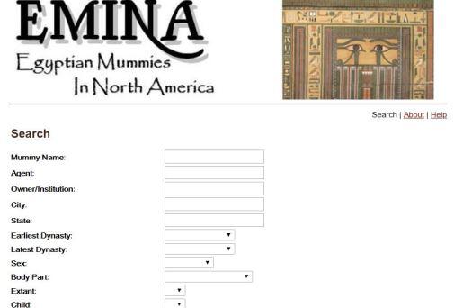 Base de Datos: Egyptian Mummies in North America