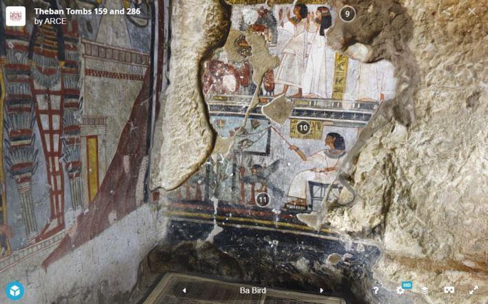 Paseo virtual por las tumbas TT286 y TT159 de Dra Abu el-Naga
