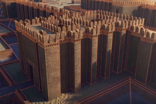 Reconstrucción en 3 D de la fortaleza de Buhen