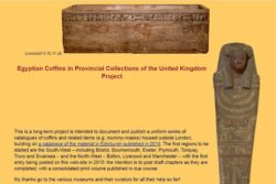 Egyptian Coffins in Provincial Collections of the United Kigndom Project