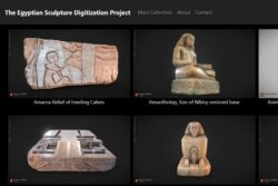 Página web con piezas escaneadas en 3D. The Egyptian Sculpture Digitalization Project