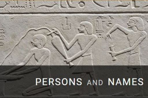 Base de datos: Persons and names of the Middle Kingdom