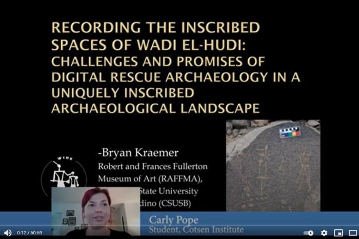 Conferencia: Recording the Inscribed Spaces of Wadi el-Hudi – Bryan Kraemer