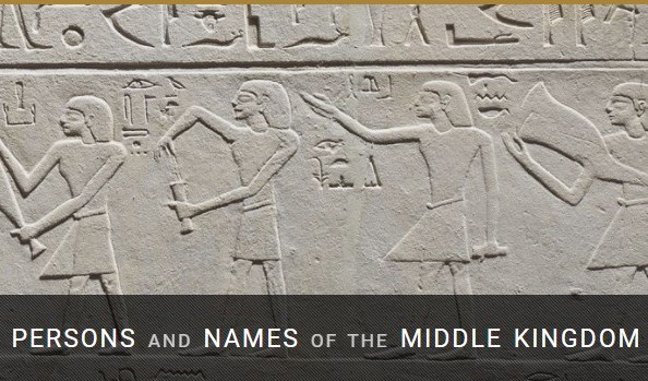 """Base de datos: """"Persons and Names of the Middle Kingdom"""""""