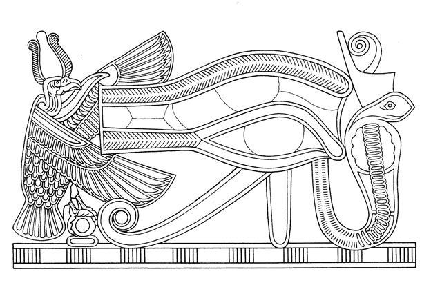 Colorea el ojo de Horus