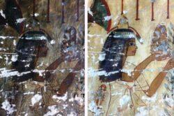Limpieza con láser de las pinturas murales del antiguo Egipto en la tumba de Neferhotep TT49 (en inglés)