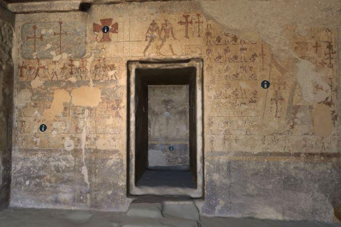Navega por el interior de la tumba de Dyehutyhotep en Deir el-Bersha