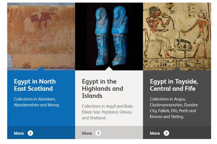 Colecciones escocesas por regiones