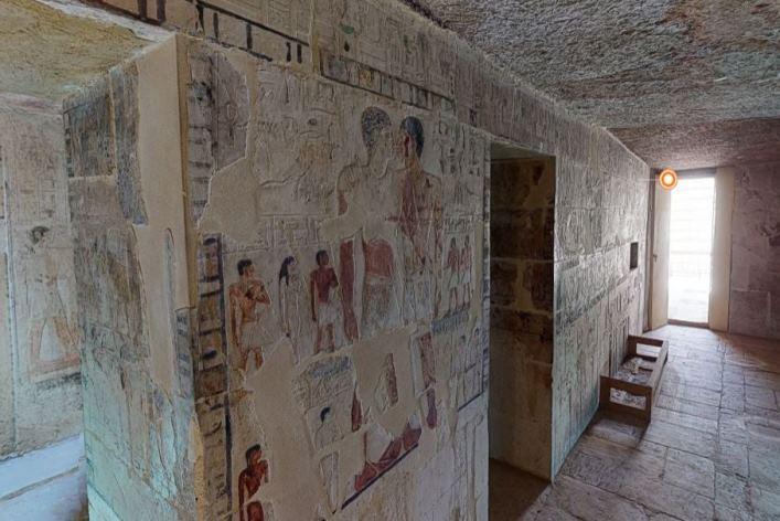 Paseo virtual por la tumba de Nianj-Jnum y Jnumhotep