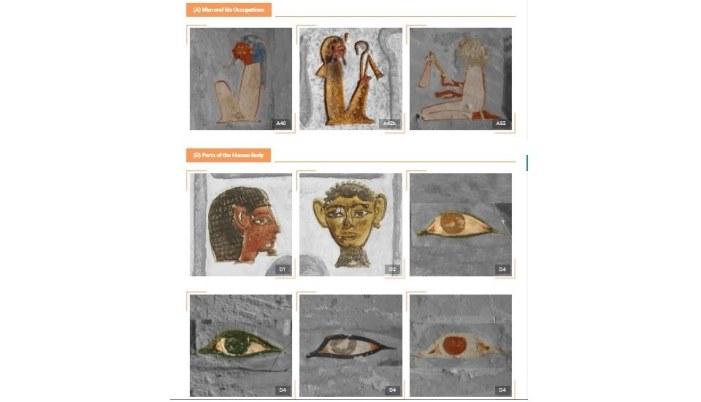 Galería de jeroglíficos pintados de digital Epigraphy