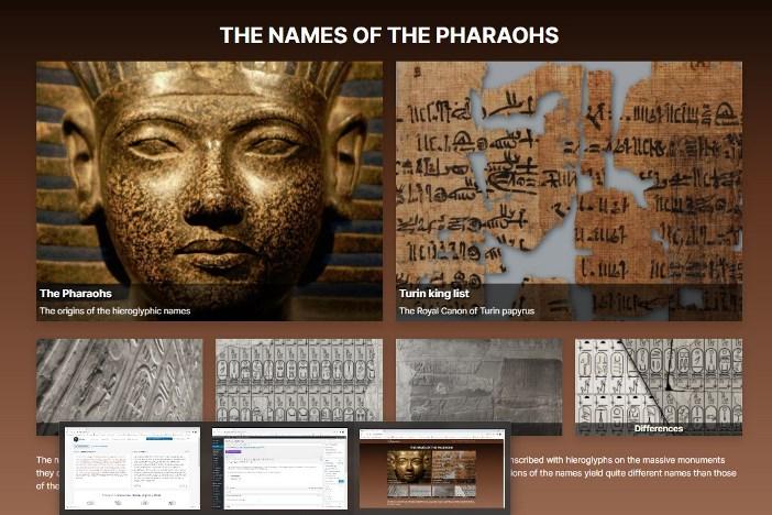 Web: Los nombres de los faraones